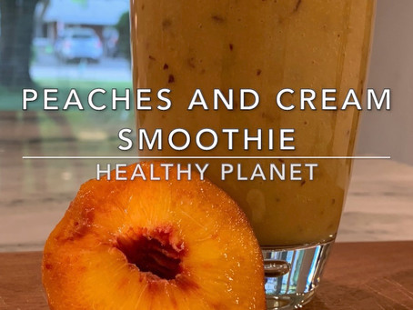 Peaches and Cream Vegan Dessert Smoothie