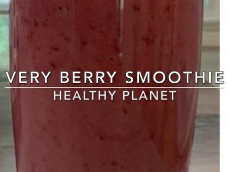 Very Berry Vegan Breakfast Smoothie