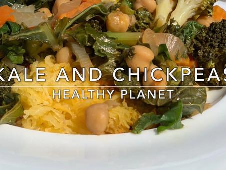 Chickpea and Kale Vegan Vegetable Roast