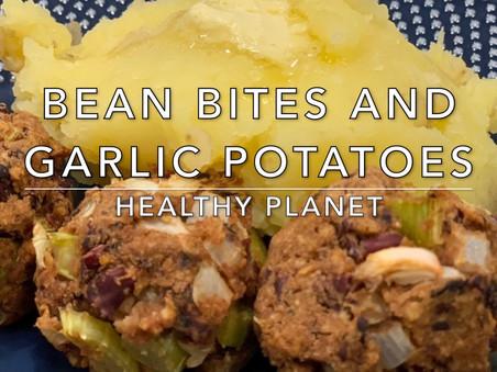 Bean Bites with Mashed Potatoes Vegan Dinner Recipe