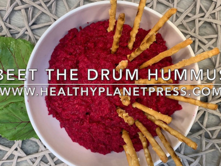 Beautiful Vegan Beet Hummus