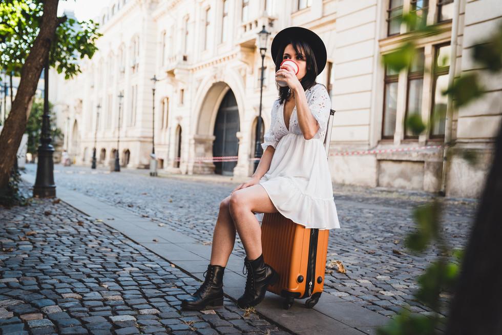 Fashion woman traveler