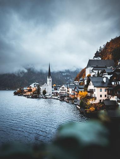 Moody view of Hallstatt, Austria