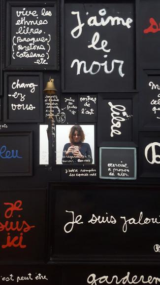 ..Remplir les espaces vides... _ installation de BEN_ Centre Pompidou. 26.02.18