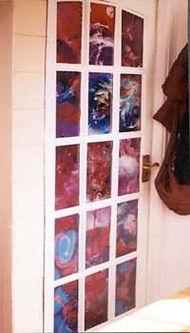Glass panel Art, McCullagh, Dublin-Belfast artist