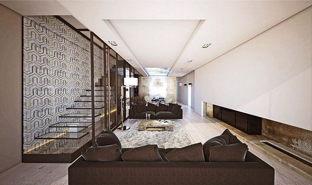 penthouse interior design, projekt wnętrza apartamentu