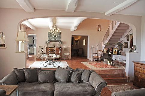 Wnętrza domu na Lazurowym Wybrzeżu we Francji, France house Interior design