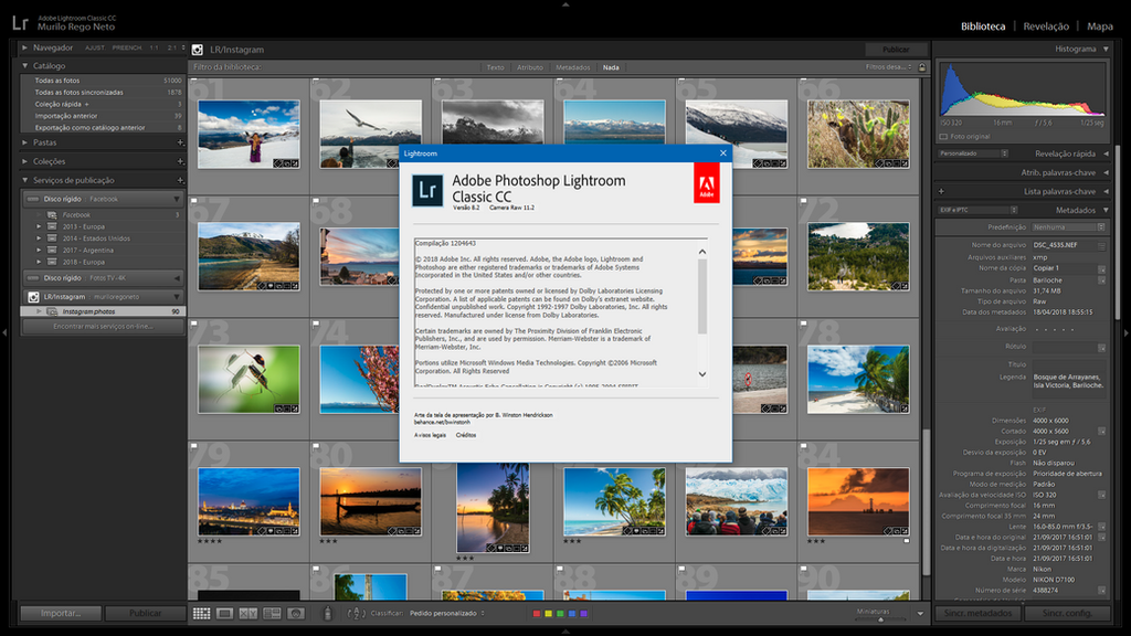 Atualização Adobe Lightroom (Fev  2019)