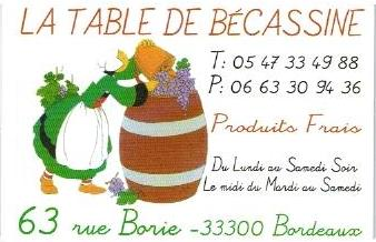Restaurant La Table de Bécassine