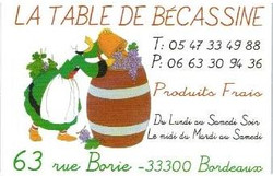 Restaurant La Table de Bécassine