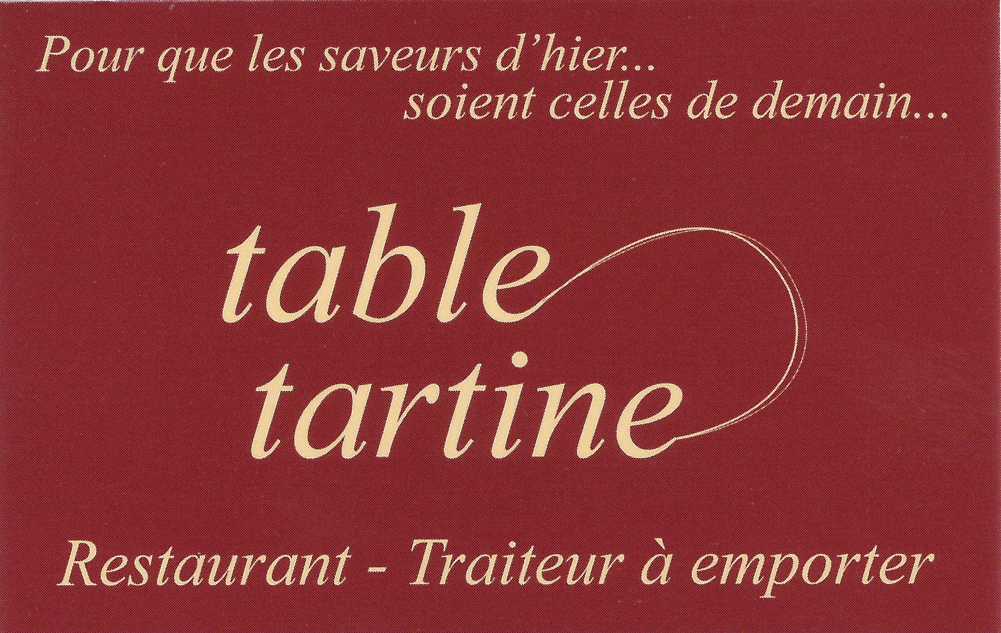 Restaurant table tartine