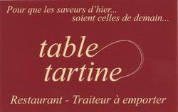 Restaurant table tartine