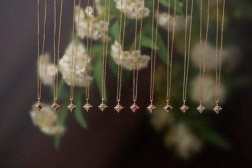 [ichirinka -一輪花-] K10 誕生石ネックレス