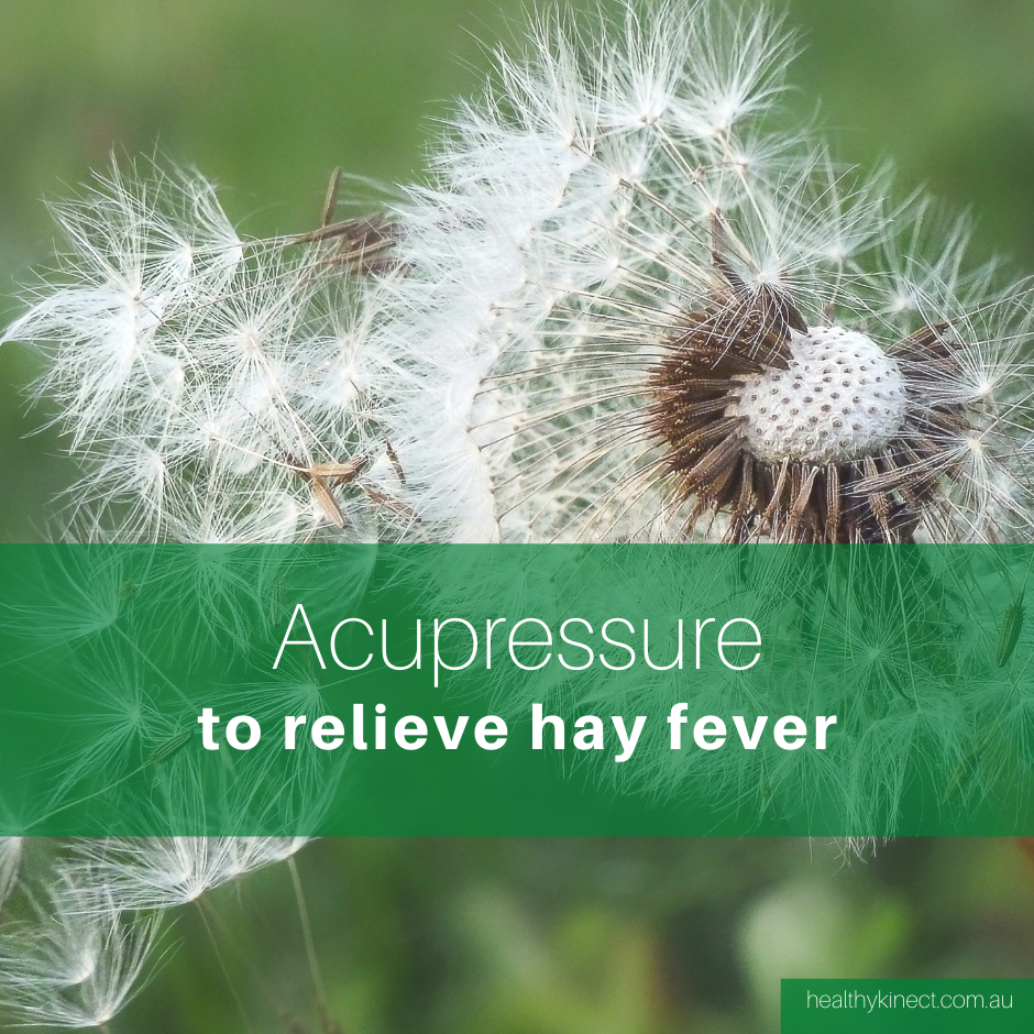 Acupressure relief points for hay fever and allergies