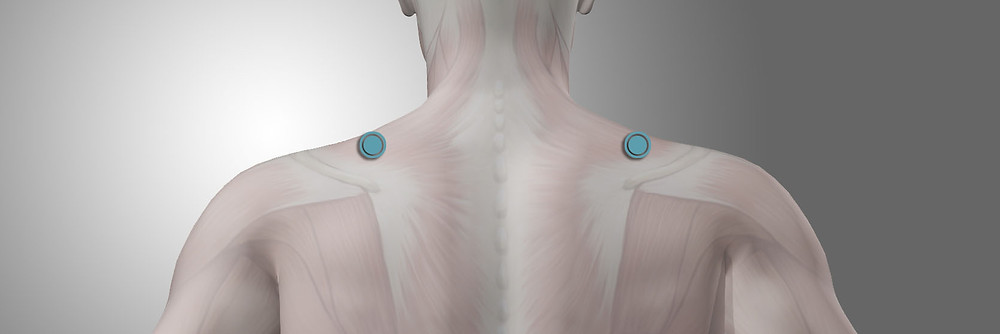 Acupressure for shoulder tension