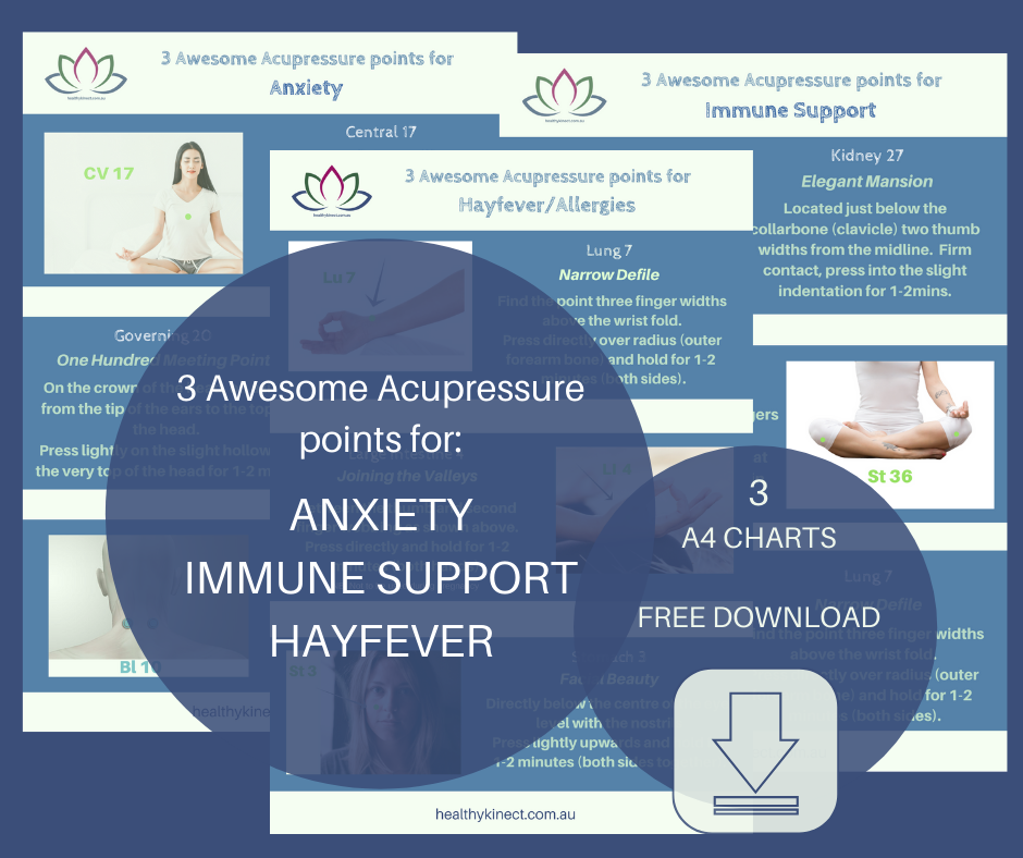 Acupressure for hay fever, anxiety and immune support.