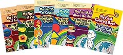 Covers of bilingual children's books