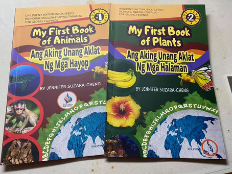 Filam-ecograndma donates Children's Nature books to Book-lat