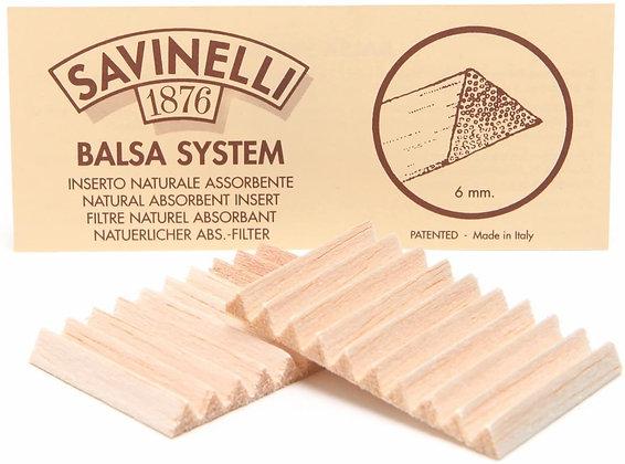 Savinelli 6mm Balsa Wood Pipe Filters 20pk