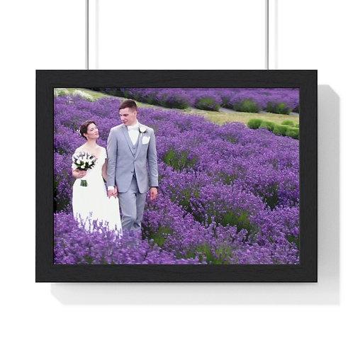 Victoria & Morgan Lavendar Premium Framed Horizontal Poster
