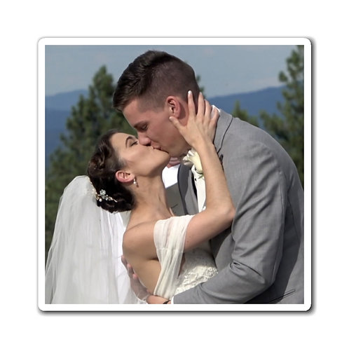 Victoria and Morgan Wedding Kiss Magnets