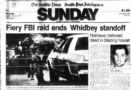 Front page, The Seattle Times/Seattle Post-Intelligencer, December 9, 1984 Courtesy The Seattle Public Library