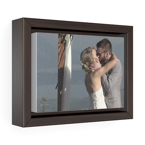 Nick & Lyndell Kiss Horizontal Framed Premium Gallery Wrap Canvas