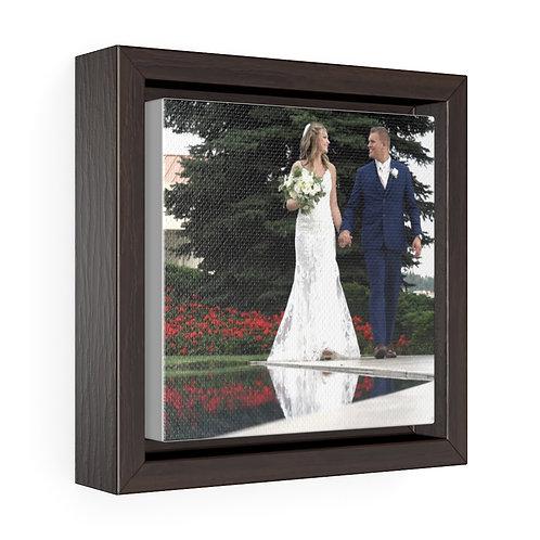 Sydney & Kade Wedding walk Square Framed Premium Gallery Wrap Canvas