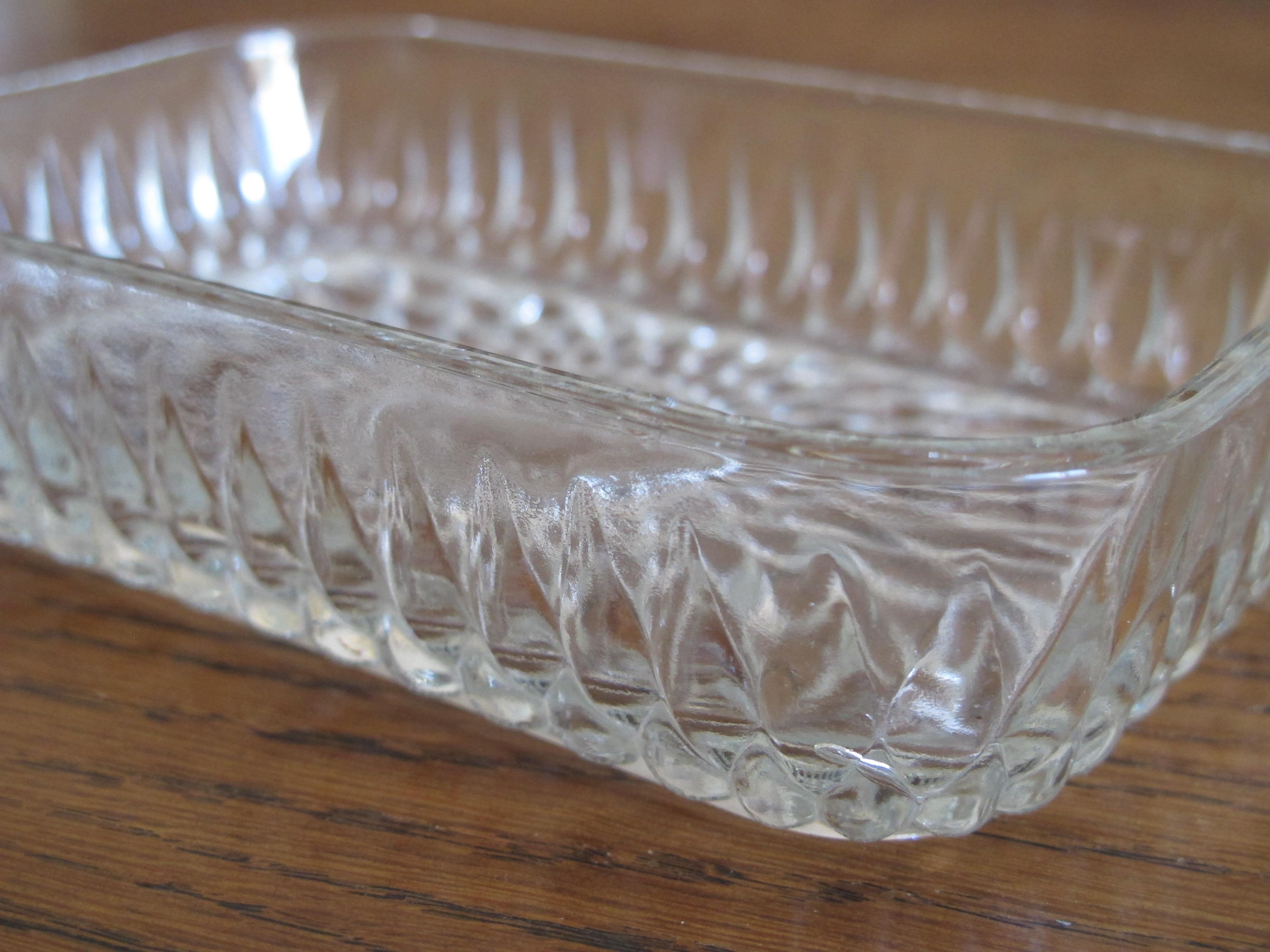 Beurrier ancien en verre