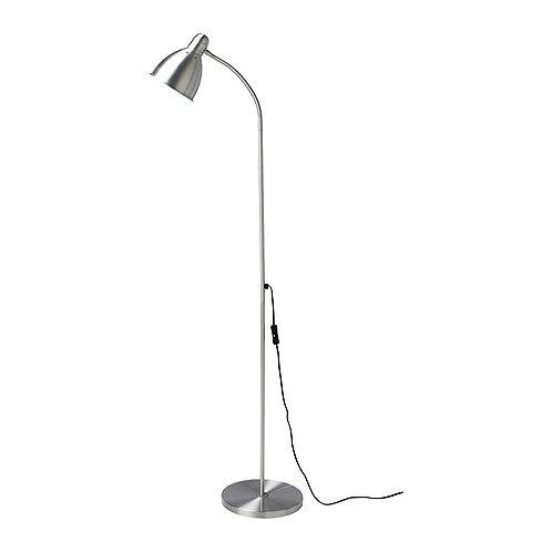Lampadaire acier avec ampoule rotative