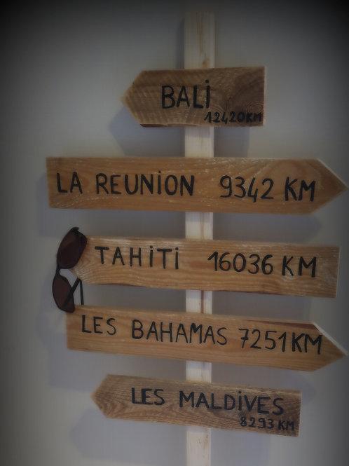 Pancarte destinations de rêve
