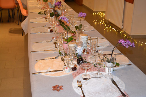 Set de table rond blanc