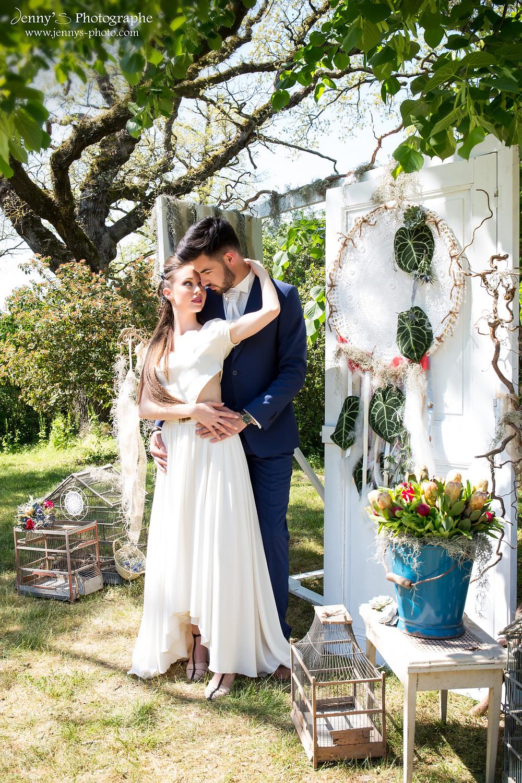 mariés décor folk portes pour cérémonie laïque
