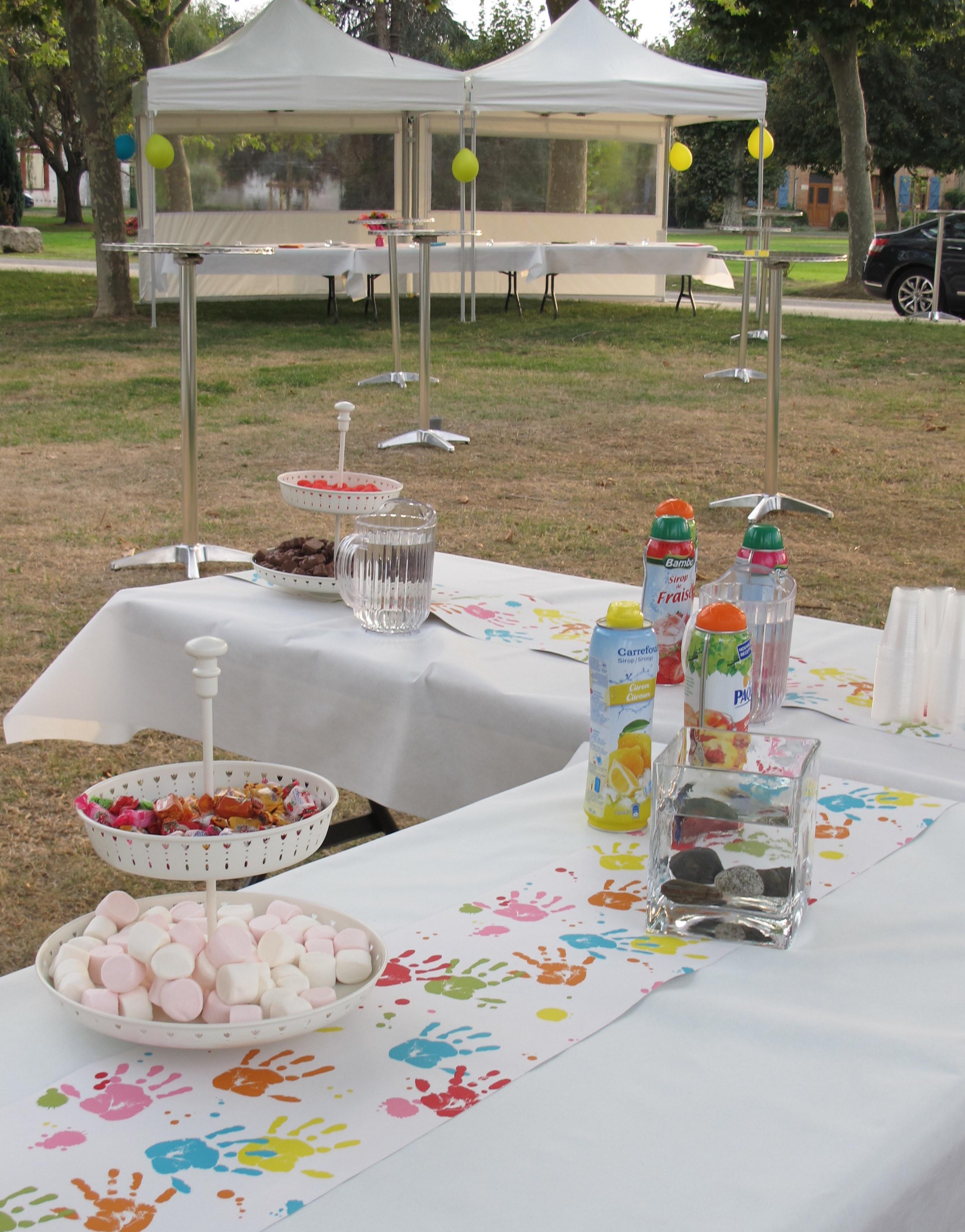décoration buffet des enfants