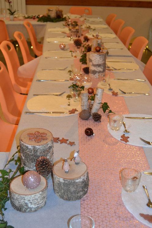 Chemin de table carreaux de ciment rose