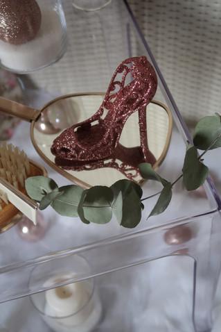 décoration girly rose poudré