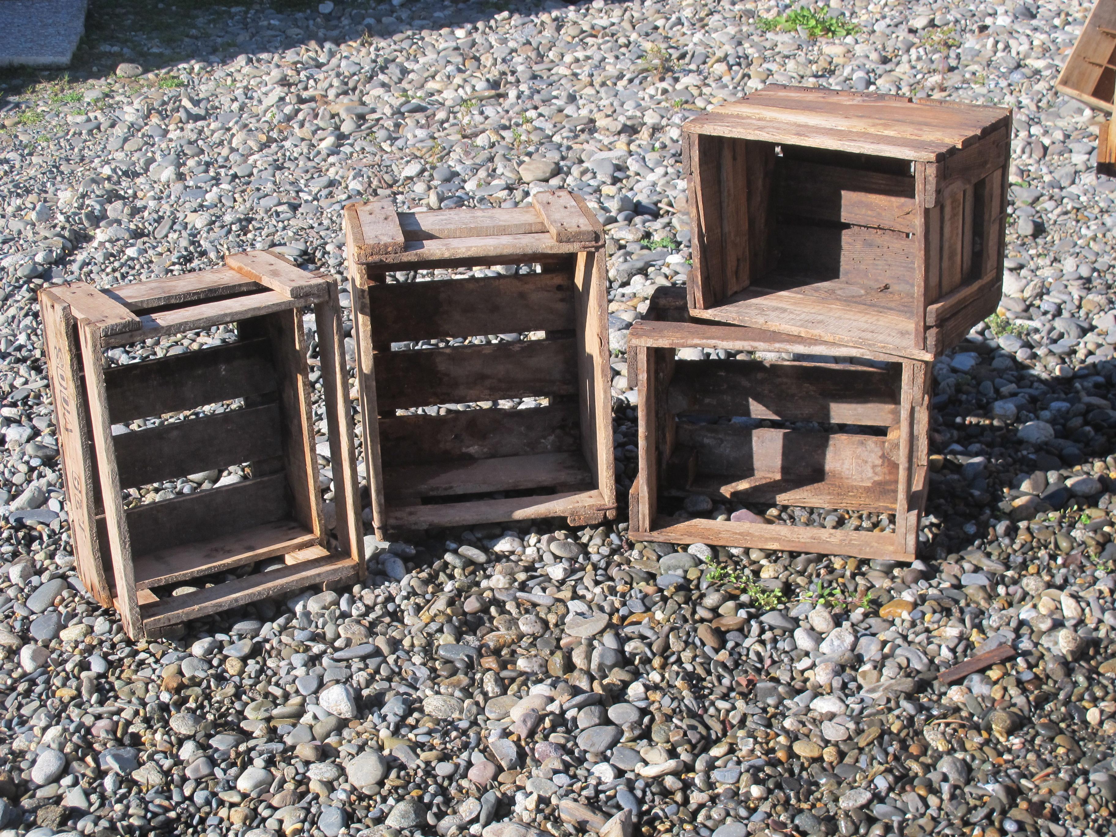 caisses en bois champêtre
