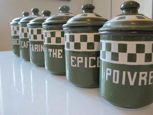 Pots émaillés ou à épices