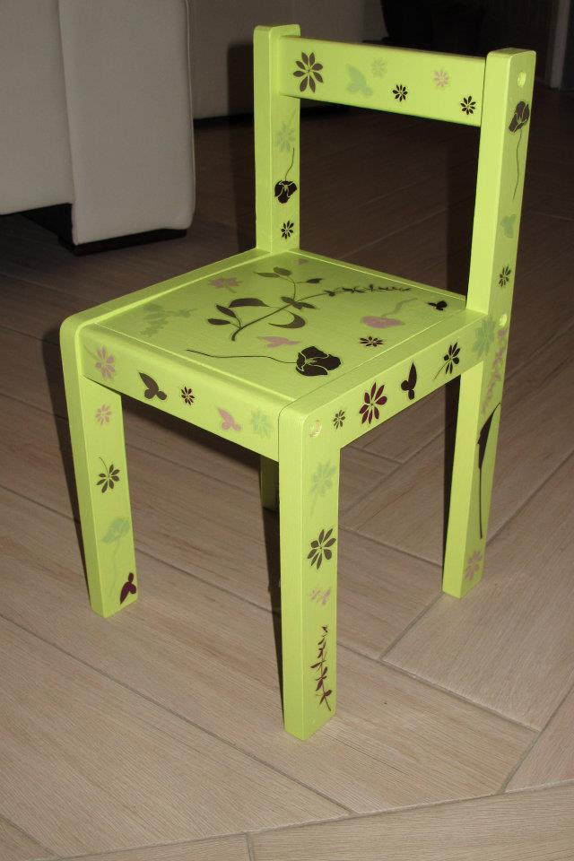 Chaise enfant verte