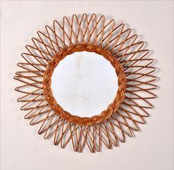 miroir-soleil-rotin-vintage