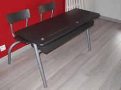 Table d'écolier double