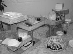 plateau de fromage en rondins