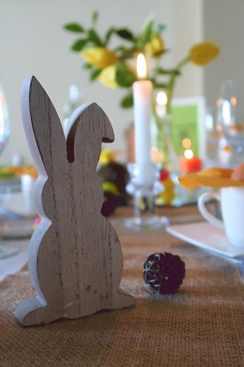 Lot de 2 lapins en bois