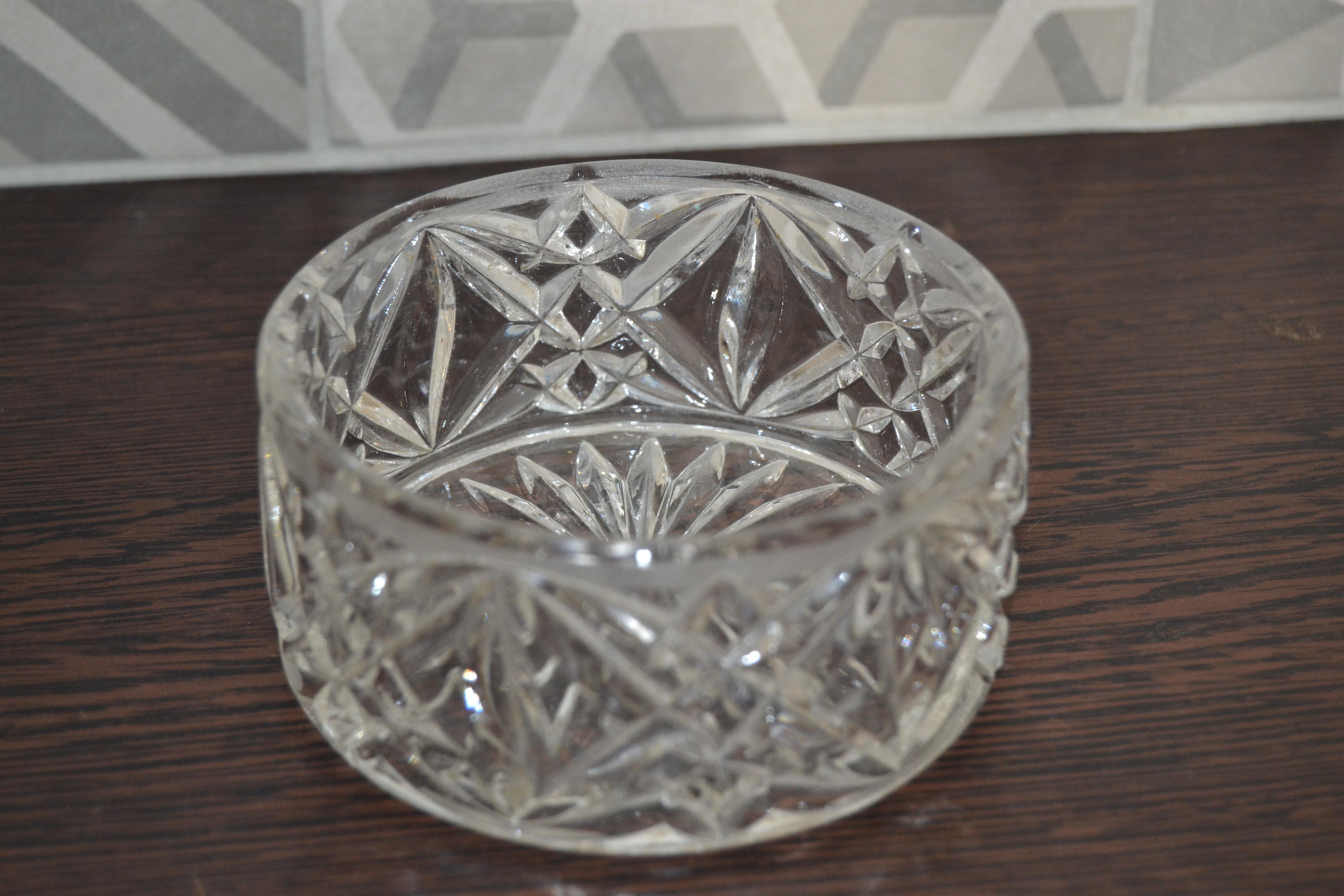ramequin vintage en verre à relief