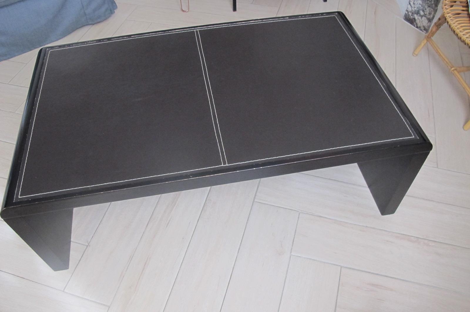 table_basse_cuir_marron_foncé_70x118_cm_50_€
