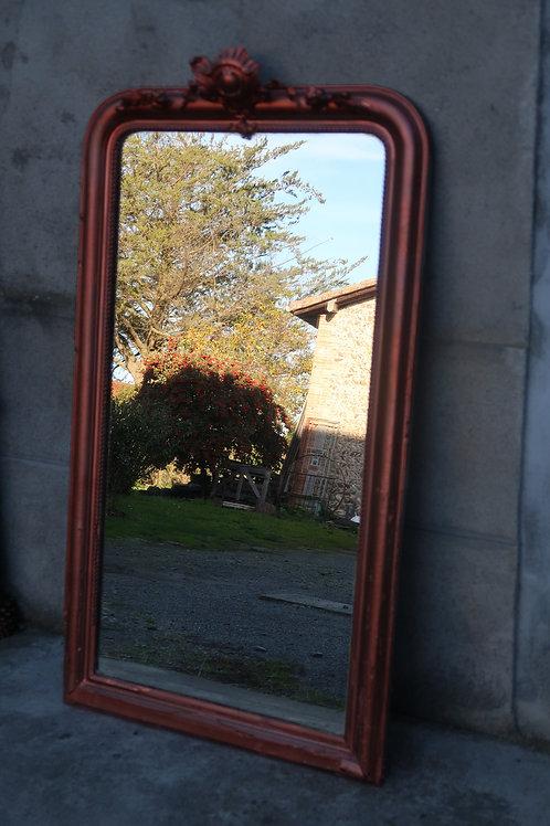 Miroir ancien cuivré