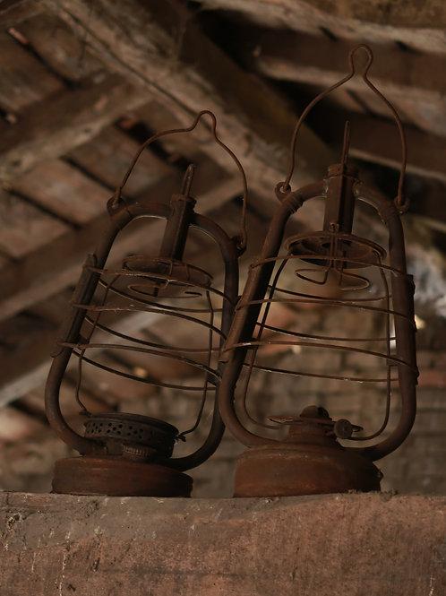 Lot de 2 lanternes anciennes