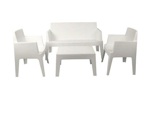 Ensemble lounge playmo blanc