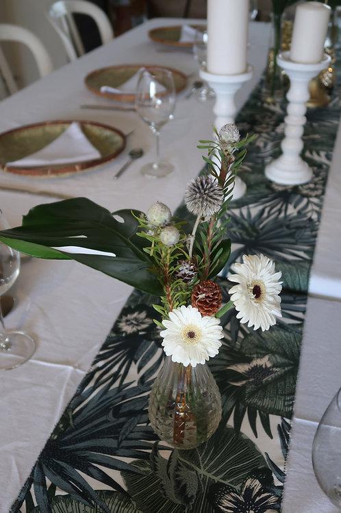 Chemin de table motif végétal