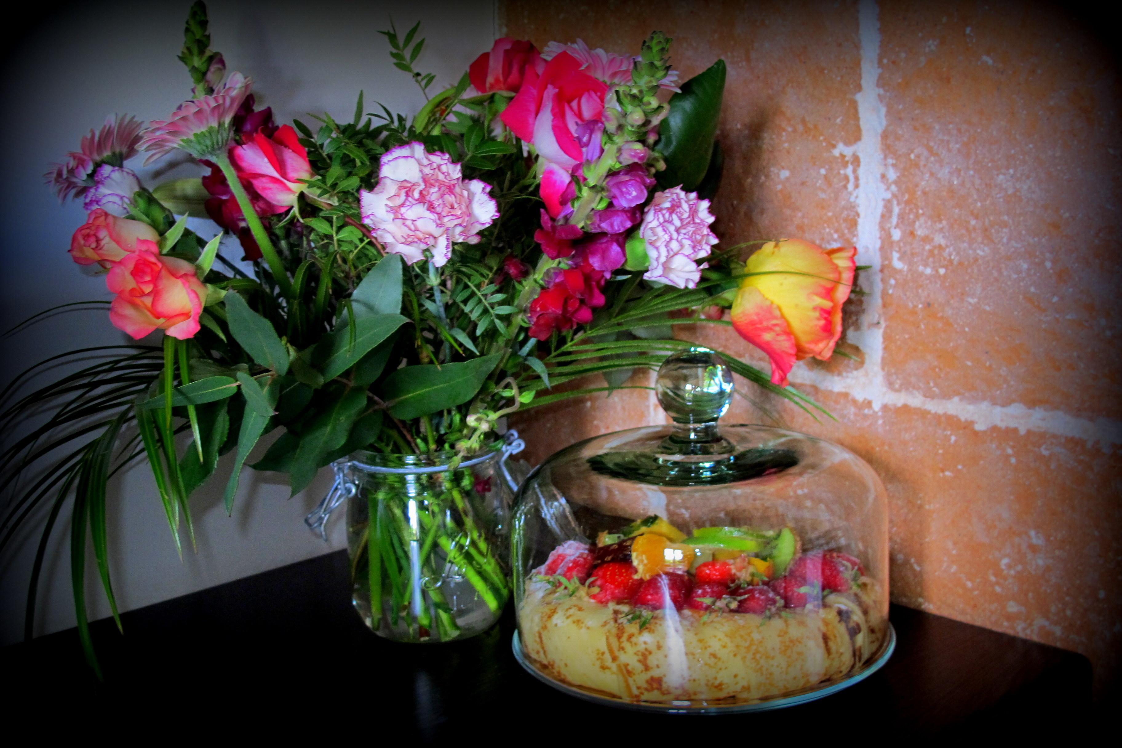 fleurs et cloche